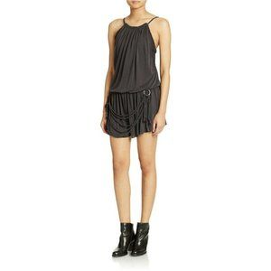 FREE PEOPLE S Dust in the Wind Romper Gray Rope